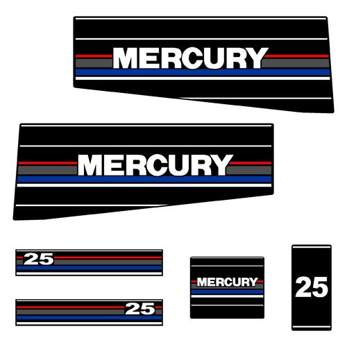 1 kit stickers MERCURY 25cv serie 6