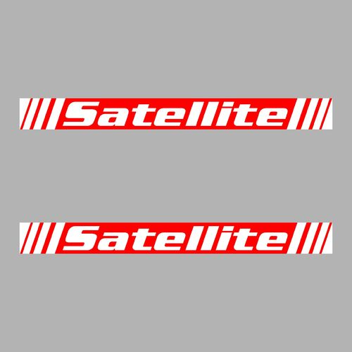 2 sticker SATELLITE ref 12