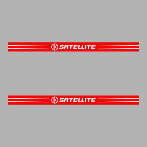 Lot de 2 sticker SATELLITE ref 13