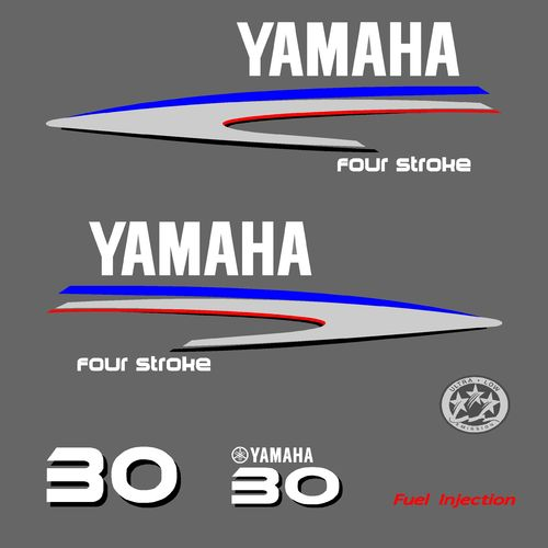 1 kit stickers YAMAHA 30cv serie 2