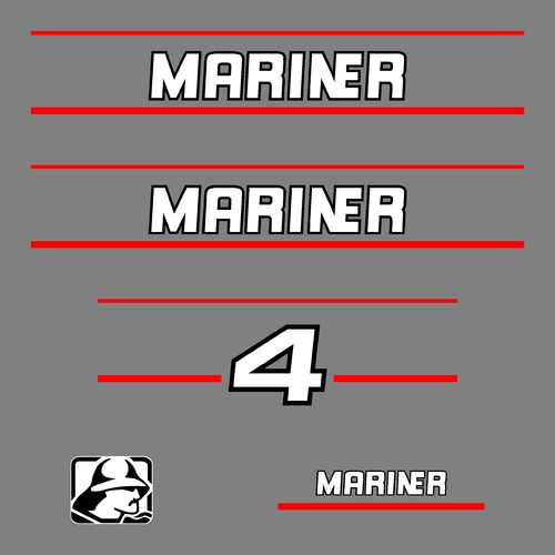 1 kit stickers MARINER 4cv serie 2