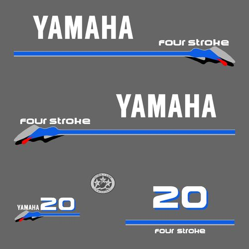 1 kit stickers YAMAHA 20cv serie 3