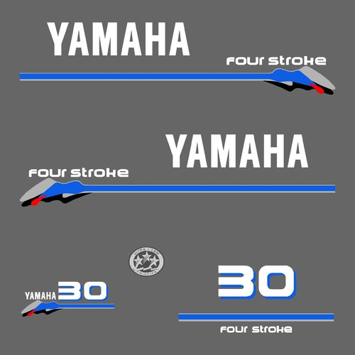 1 kit stickers YAMAHA 30cv serie 3