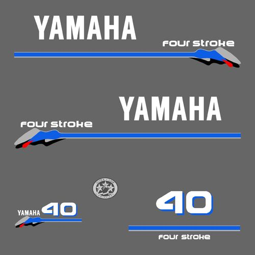 1 kit stickers YAMAHA 40cv serie 3
