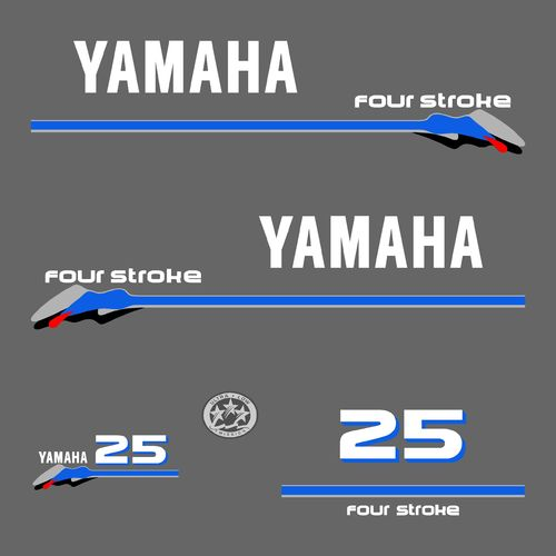 1 kit stickers YAMAHA 25cv serie 3