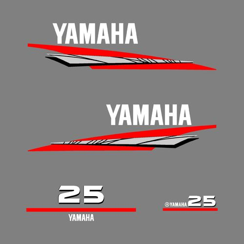 1 kit stickers YAMAHA 25cv serie 6