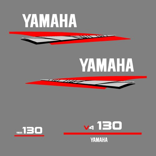 1 kit stickers YAMAHA 130cv V4 serie 6