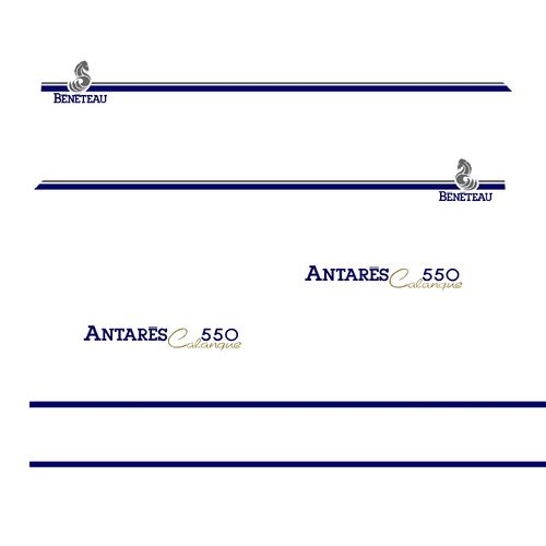 kit stickers BENETEAU ANTARES CALANQUE 550 ref 47