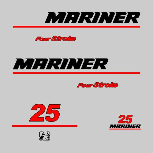 kit sticker MARINER 25cv serie7