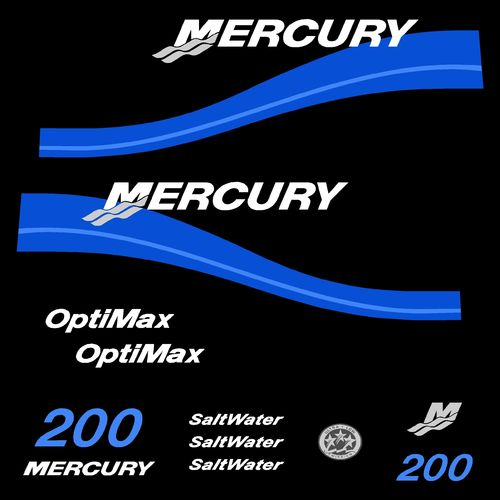 kit stickers MERCURY 200cv Optimax Saltwater serie 2 B