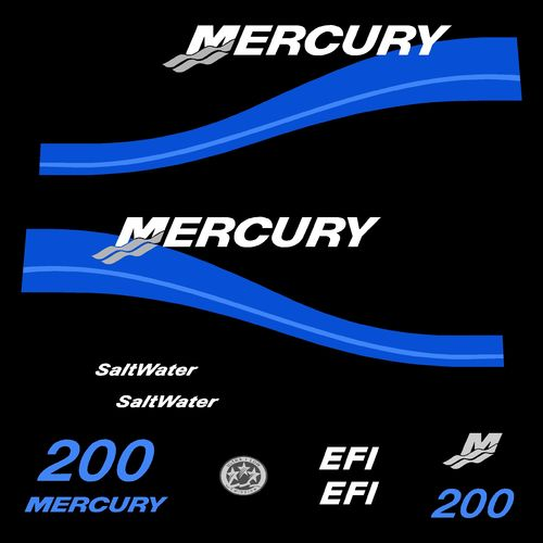 kit stickers MERCURY 200cv EFI Saltwater serie 2 C