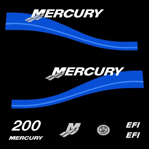kit stickers MERCURY 200cv EFI serie 2 D