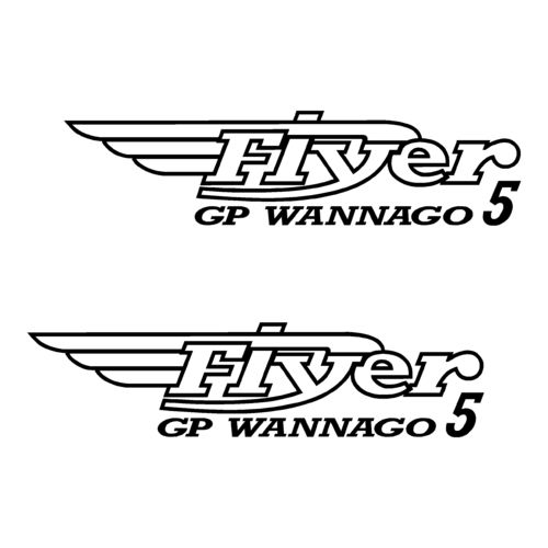 2 Stickers BENETEAU Flyer 5 GP WANNAGO ref 51