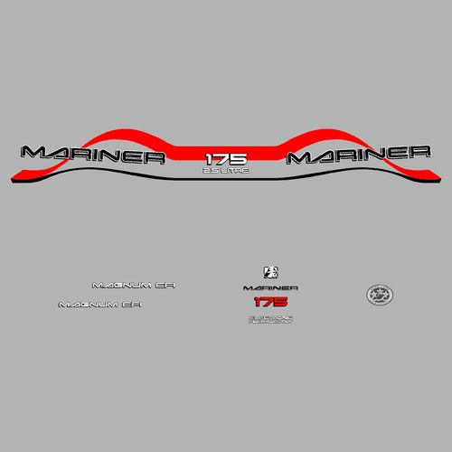 kit sticker MARINER 175cv serie 8 MAGNUM EFI