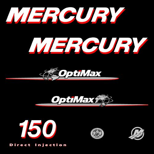 1 kit stickers MERCURY 150cv Optimax serie 1