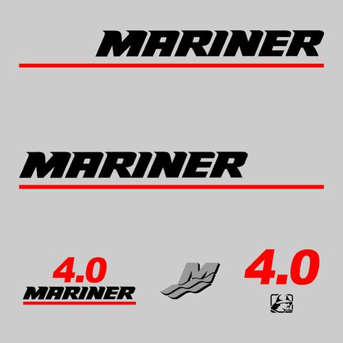 kit sticker MARINER 4cv serie 7