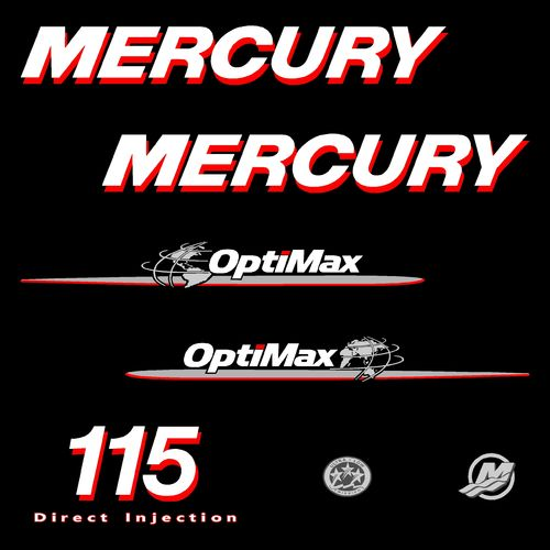kit stickers MERCURY 115cv Optimax serie 1