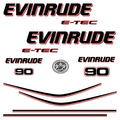 kit stickers EVINRUDE 90cv etec serie 4