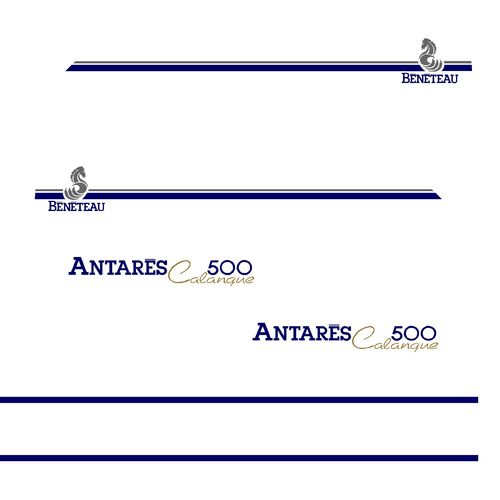 kit stickers BENETEAU ANTARES CALANQUE 500 ref 56