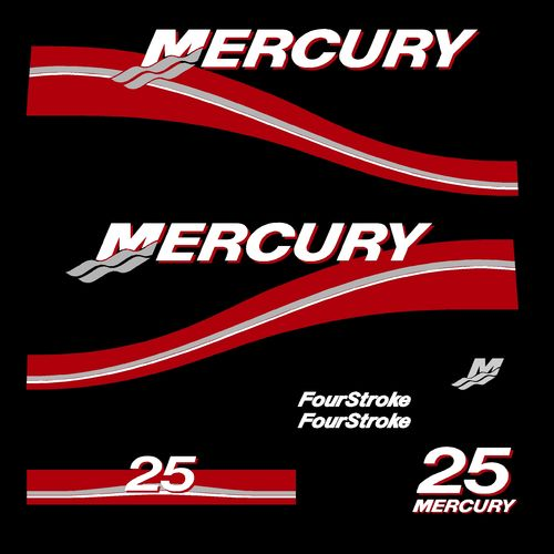 kit stickers MERCURY 25cv serie 2