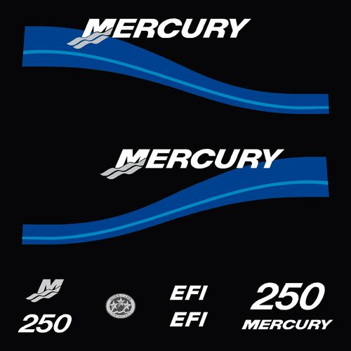 kit stickers MERCURY 250cv EFI serie 2 D