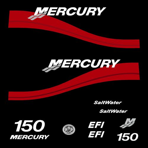 kit stickers MERCURY 150cv EFI serie 2 c