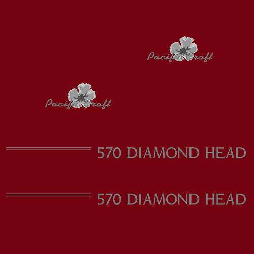1 kit stickers PACIFIC CRAFT ref 6 DIAMOND HEAD 570
