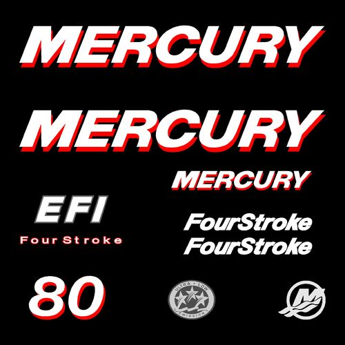 kit stickers MERCURY 80cv EFI serie 1