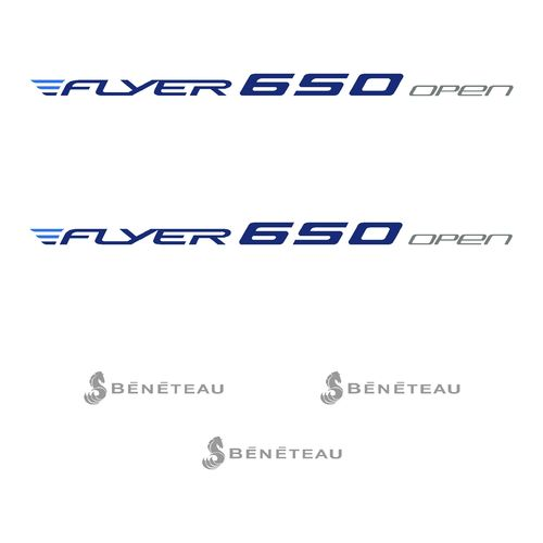 kit stickers BENETEAU FLYER 650 OPEN ref 57