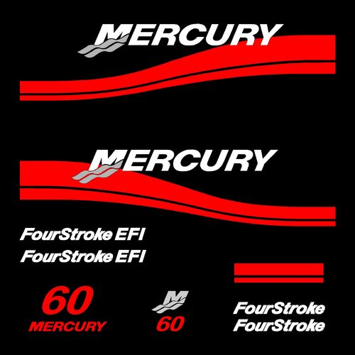 kit stickers MERCURY 60cv serie 2