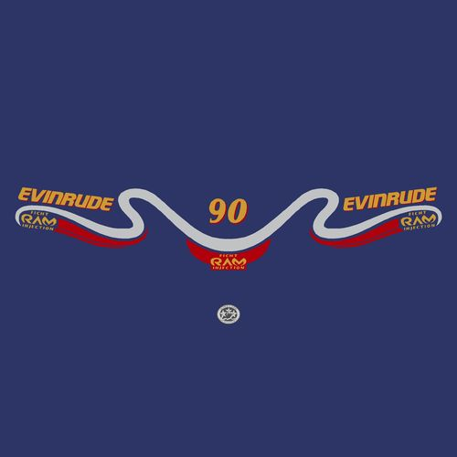 1 kit stickers EVINRUDE 90 cv serie 7