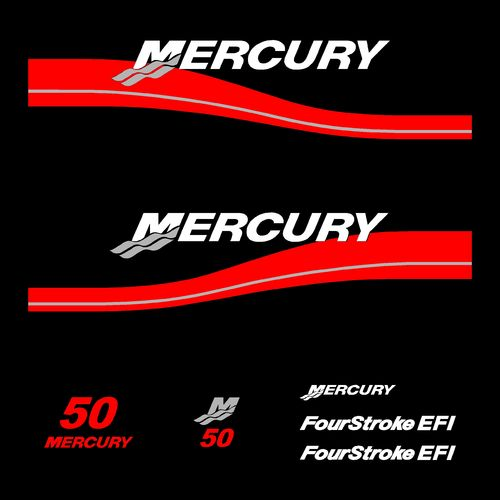 kit stickers MERCURY 50cv serie 2 bis