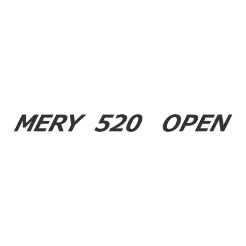 Sticker MERY NAUTIC 520 OPEN ref 8